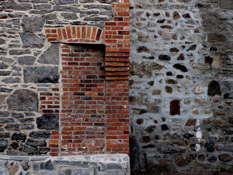 bricked doorway