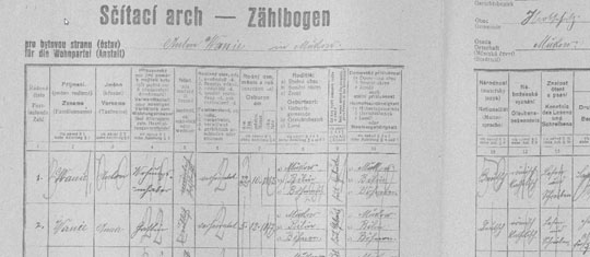 1921 Czech census record