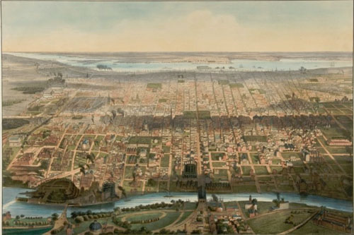 historic view of Philadelphia