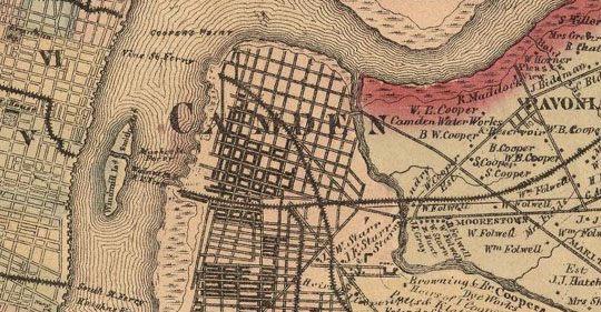 historic map of Philadelphia